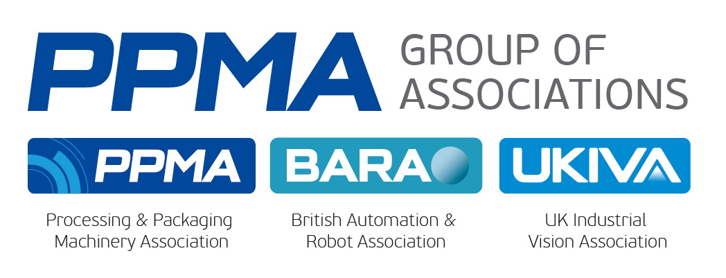 PPMA Group logo cluster mintext